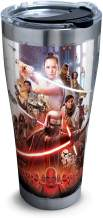Tervis 1338689 Star Wars Episode IX Poster 18/8 Stainless Steel Insulated Travel Tumbler & Lid, 30 oz, Silver