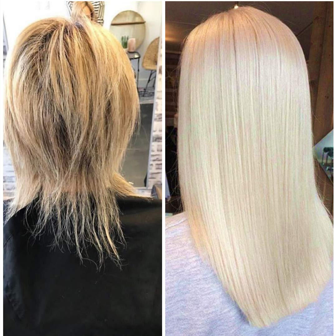 Hetto Real Hair Mono Hairpiece for Hair Loss 13x13cm Straight Clip in Topper Top Hair Pieces for White Hair #60 Platinum Blonde