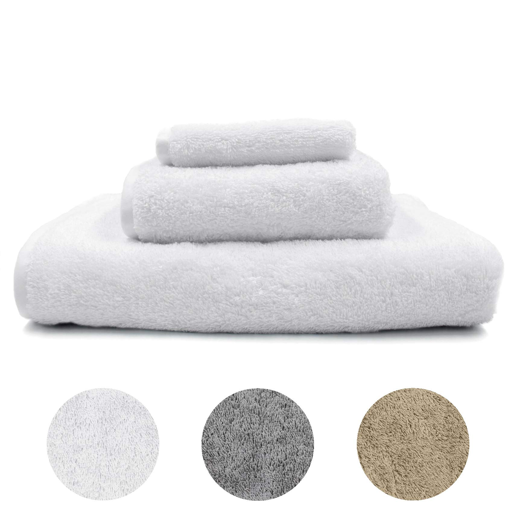 """Winter Park Royal Supima Cotton Bath Towel Measuring 30"""" by 60"""", White - 700 GSM - Grown by American Farmers, Ultra Plush, Absorbent and Durable. A High-End Hotel/Spa Quality Cotton Towel"""