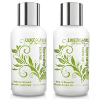 Moroccan Oil Shampoo and Conditioner Travel Set (2oz): TSA Compliant Paraben, Sodium Chloride, and Sulfate Free. Safe for Color Treated and Keratin Hair Treatments. Best for Curly, Frizzy or Dry Hair.