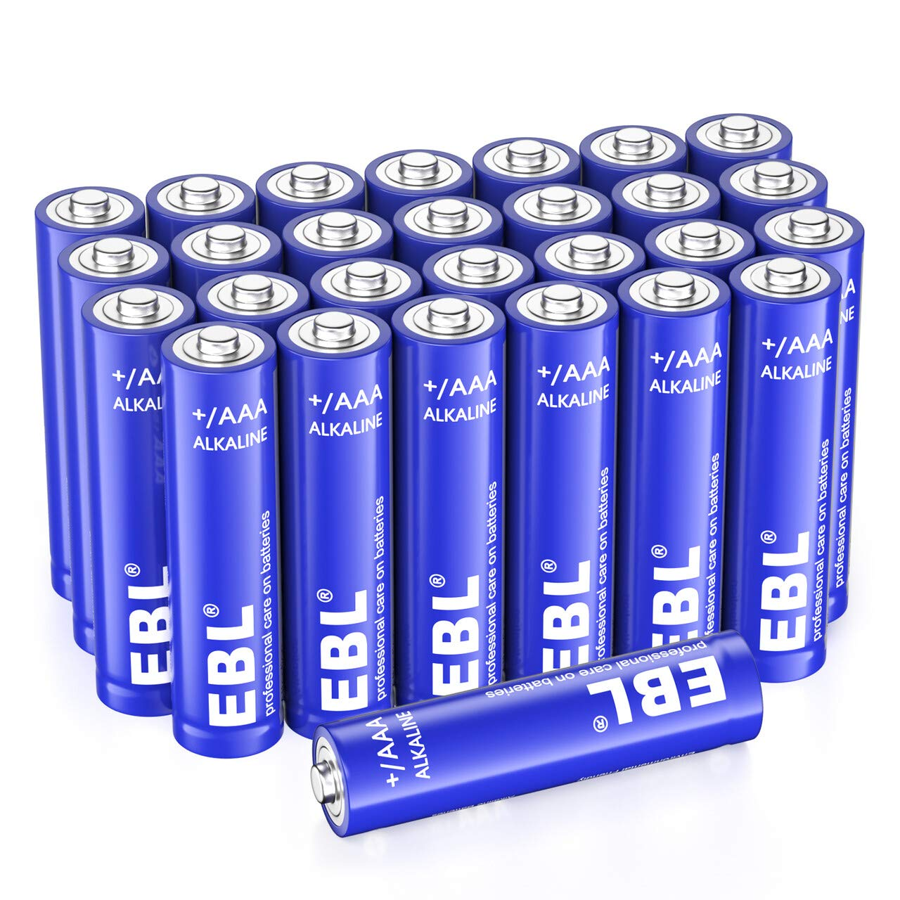 EBL Alkaline AAA Batteries - 1.5V Triple A Long-Lasting Alkaline Battery with 10-Year Shelf Life - Pack of 28