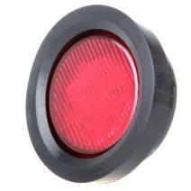 "cciyu Side Marker Lights 10 Pack Red 2.5"" Round Truck Trailer Clearance Marker Led Round Side Marker Light w/Grommets 2pcs White Side Marker Lights"