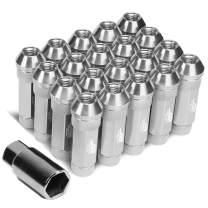 J2 Engineering LN-T7-026-15-SL 7075 Aluminum M12 x 1.5 25mm OD / 70mm 20x Lug Nut + 1x Key