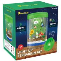 Brave Finder Terrarium Kit, Boys Girls Toys Arts and Crafts with Colorful LED Kids Birthday Gifts Educational Gifts for Boys & Girls Science Kit with Light-Up Boys and Girls Toys Age 5, 6, 7+Year Old