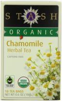 Stash Tea Company Organic Chamomile Herbal Tea 18 Count Tea Bags in Foil (Packaging May Vary)