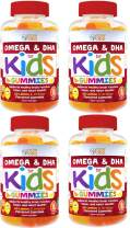 Complete DHA Gummies for Kids by Feel Great 365 (4 Pack), Omega 3 6 9 from Algae, Chia, and Coconut Oil, Supports Healthy Brain Function, Vision, and Heart Health in a Chewable Vegan Supplement