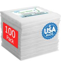 """100 Pack Foam Sheets, DAT 12"""" x 12"""", 1/16"""" Thick, Foam Wrap Cushioning Material, Moving Supplies for Packing Storage and Shipping"""