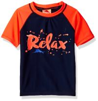 Tommy Bahama Boys' Relax Color Block Short Sleeve Rash Guard