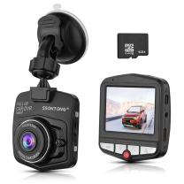 "Dash Cam,Ssontong Mini Car Dashboard Camera, Full HD 1080P 2.31"" Screen 140 Degree Wide Angle Lens Vehicle On-Dash Video Recorder with G-Sensor,Parking Monitoring,Recording and 16GB SD Card Included"