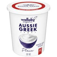 Wallaby Organic, Whole Milk Greek Yogurt, Plain, 32 oz