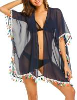 Avidlove Women Beach Cover Up Kimono Cardigan Tassel Chiffon Swimsuit Wrap