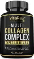 Collagen Pills - Multi Collagen Supplements (Types I, II, III, V & X) Collagen Peptides Pills for Hair, Skin & Joints - Hydrolyzed Collagen Protein Powder (Colageno) Collagen Capsules for Women & Men