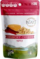 INTAKT Crunchy Cheese Crisps Keto Snacks | 4 Pack | Spicy | 100% Natural Cheese, High Protein Bites, Low Carb Snack Bites, Gluten Free Snack Packs, Grain Free, Soy & Nut Free, Non GMO