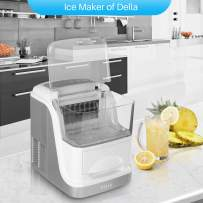 DELLA 33lbs Large Capacity per Day Automatic Clear Ice Cube Maker Storage Electric Easy-Touch Panel XL w/Ice Scoop