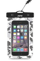 """JOTO Universal Waterproof Pouch Cellphone Dry Bag Case for iPhone 11 Pro Max XS Max XR XS X 8 7 6S Plus, Galaxy S10 Plus S10e S9 Plus S8 + Note 10+ 10 9 8, Pixel 4 XL 3a 2 up to 6.8"""" -Grey Camo"""