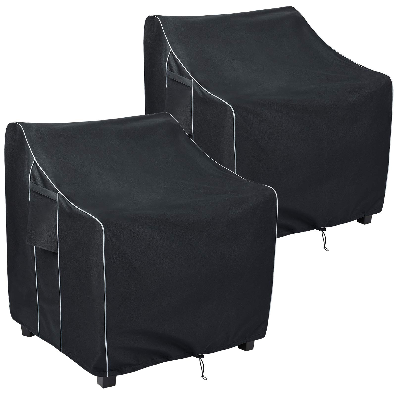 FORSPARK Patio Chair Covers Waterproof, Heavy Duty Outdoor Furniture Chair Covers, Fits up to 31.5 x 33.5 x 36 inches (W x D x H) 2 Pack