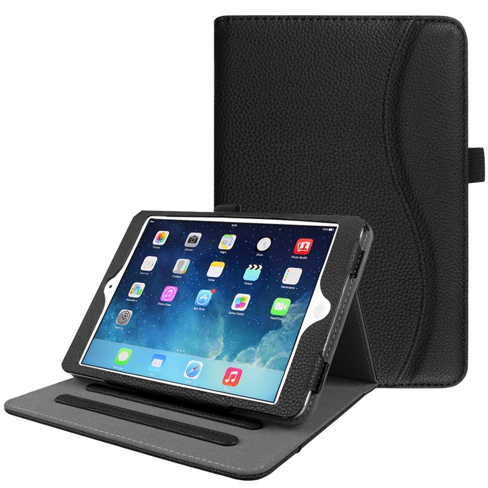 Fintie Case for iPad Mini/Mini 2 / Mini 3 [Corner Protection] - [Multi-Angle Viewing] Folio Smart Stand Protective Cover with Pocket, Auto Sleep/Wake for Apple iPad Mini 1 / Mini 2 / Mini 3, Black