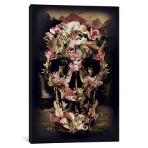 iCanvasART 1-Piece Jungle Skull Canvas Print by Ali Gulec, 0.75 by 12 by 8-Inch