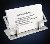 ArtsOnDesk Modern Art Business Card Holder Mr101 Stainless Steel Mirror Polish Patented Luxury High-end Desk Accessory Business Card Stand Case Office Organizer Thanksgiving Gift Christmas Gift.