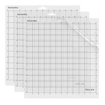 REALIKE 12x12 StandardGrip Cutting Mat for Cricut Explore One/Air/Air 2/Maker(3 Mats), Gridded Adhesive Non-Slip Cut Mat for Crafts, Quilting, Sewing and All Arts
