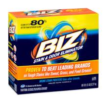 Biz Laundry Detergent Powder Booster, Stain & Odor Removal - 4-Pack, 80 Ounce Boxes