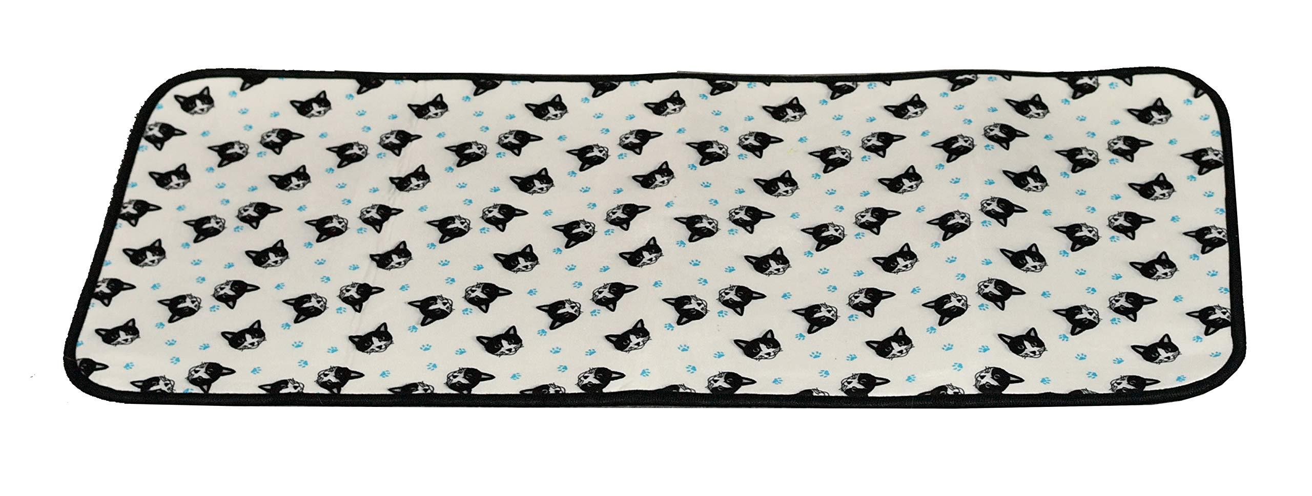 HOME-X Kitten Print Non-Slip Standing Mat for Kitchen or Bathroom, Cat Rug Home Décor