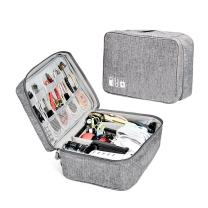 ZRSE Electronic Organizer Travel Universal Gadget Bag Cable Organizer Electronics Accessories Cases for iPad Mini,Kindle,Power Adapter,Portable Compact Grey