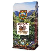 Java Planet - Chocolate and Almond Organic Coffee Beans infused with Organic Flavoring, Fair Trade, Medium Dark Roast, Arabica Gourmet Coffee Grade A, packaged in 1 LB bag