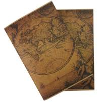 """Wanderings Vintage Travelers Notebook Inserts - Handmade Antique Deckle Edge Blank Paper - Set of 2 Travel Journal Refills for Leather Travel Journals, Writers, Diaries and Grimoires, 8.25x4.25"""""""