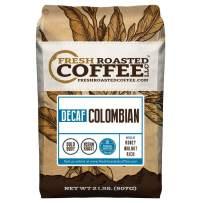 Fresh Roasted Coffee LLC, Colombian Swiss Water Decaffeinated Coffee, Medium Roast, Whole Bean, 2 Pound Bag