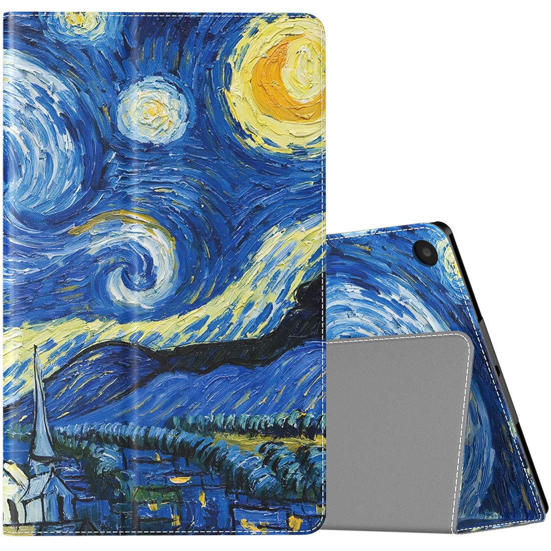 TiMOVO Folio Case for All-New Fire HD 10 Tablet (9th Generation, 2019 Release and 7th Generation, 2017 Release) - Slim Folding PU Leather Stand Cover Case for Amazon Fire HD 10 Tablet, Starry Night