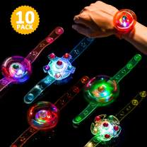 Light Up Bracelet Party Favors Toys for Kids 10 Pack LED Toys Girls / Boys Prizes Back to School Gifts Toys for Classroom Easter Thanksgiving Christmas Birthday Celebration New Year Eve Party Neon Supplies