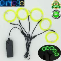 ShineWorld EL Wire Kit 5 by 1Meter, Portable Neon Light El Wire with Battery Pack for DIY Halloween Christmas Party Decoration (Limegreen)