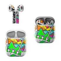 Skin Decals for Apple AirPods - PQC - Sticker Wrap Fits 1st and 2nd Generation
