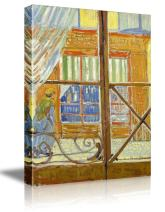 """wall26 A Pork-Butchers Shop Seen from a Window by Vincent Van Gogh - Oil Painting Reproduction on Canvas Prints Wall Art, Ready to Hang - 32"""" x 48"""""""