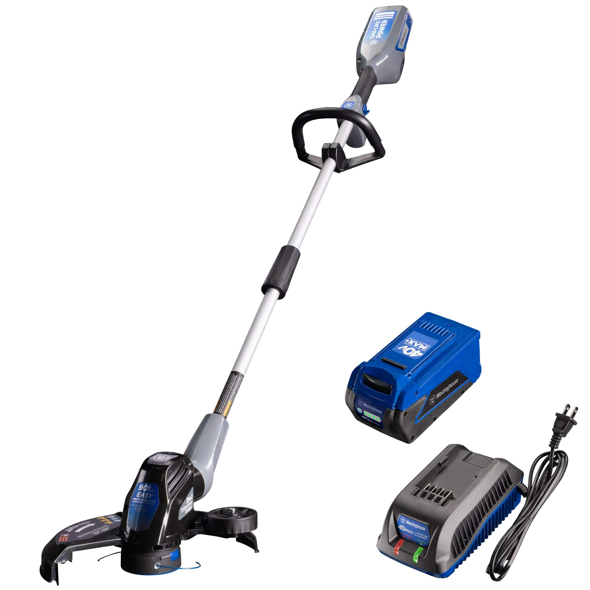 Westinghouse 40V Cordless String Trimmer, 2.5 Ah Battery and Charger Included