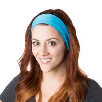 Hipsy Xflex Basic Adjustable & Stretchy Wide Headbands for Women
