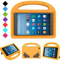 Kids Case for Fire HD 8 - TIRIN Light Weight Shock Proof Handle Kid –Proof Cover Kids Case for Amazon Fire HD 8 Tablet (7th and 8th Generation Tablet, 2017 and 2018 Release), Orange