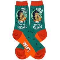 Foot Traffic, Women's GIRL POWER Novelty Socks, Fits Women's Shoe Sizes 4-10