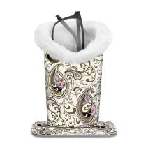 Fintie Plush Lined Eyeglasses Holder with Magnetic Base- PU LeatherGlasses Stand Case