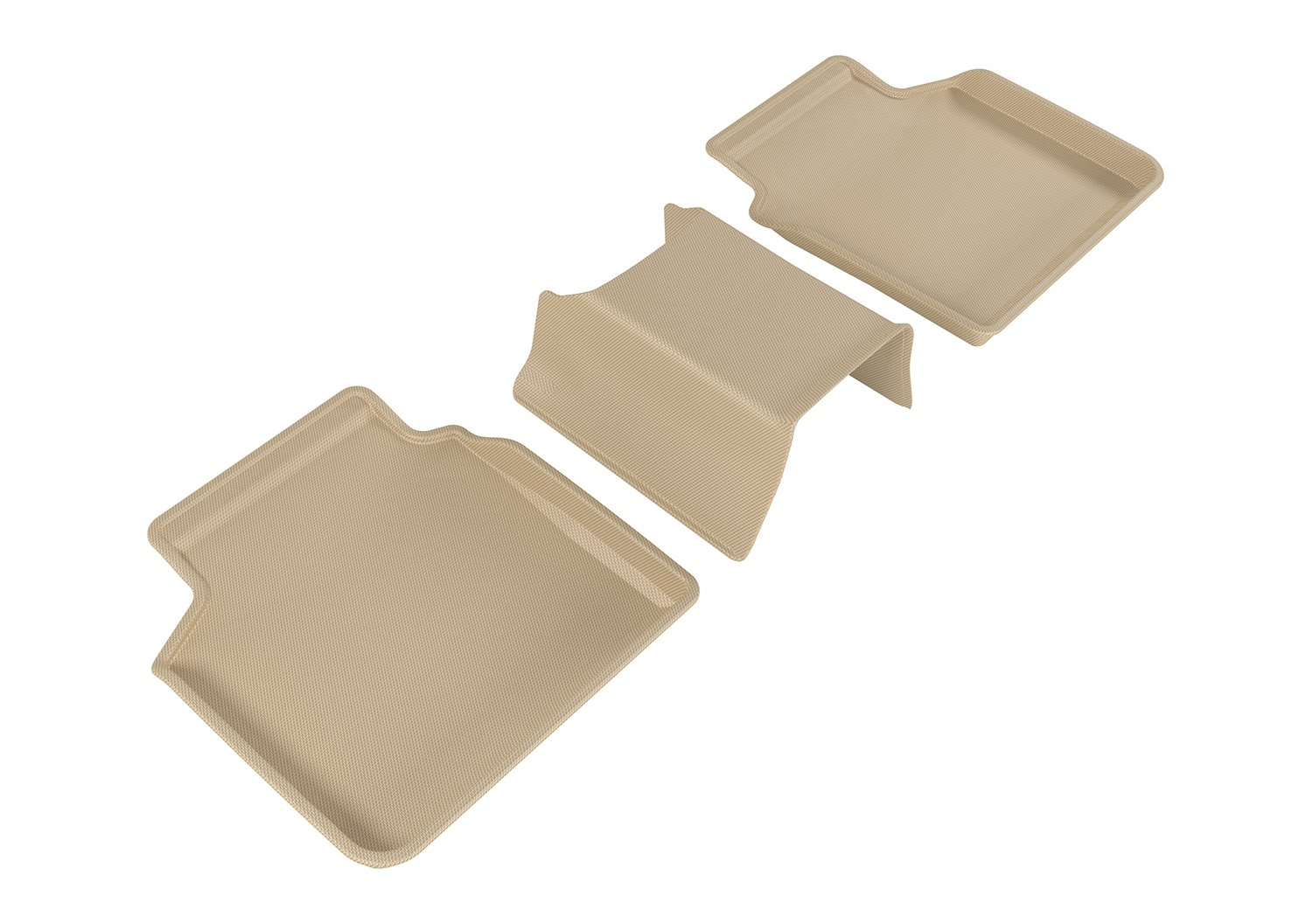 3D MAXpider Second Row Custom Fit All-Weather Floor Mat for Select BMW 7 Series (G12) Models - Kagu Rubber (Tan)