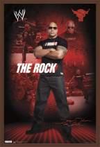 "Trends International WWE - The Rock Wall Poster, 22.375"" x 34"", Mahogany Framed Version"
