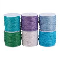 PandaHall Elite 6 Rolls 1mm Waxed Cotton Cord Thread Beading String 80 Yards per Roll Spool for Jewelry Making and Macrame Supplies 6 Colors