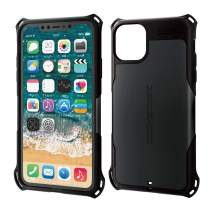 ELECOM Zero Shock Case & Film/Compatible with iPhone 11 Pro Max/Film Included/Full Protection/Bumper/Black PM-A19DZEROBK