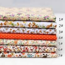 "9.8""9.8"""" (25cm25cm) No Repeat Design Printed Floral Cotton Fabric 7pcs Plat for Patchwork, Sewing Tissue to Patchwork,Quilting Squares Bundles Orange"