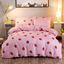 Strawberry Duvet Cover Set Full Size Strawberry Printed Bedding Duvet Cover for Kids Teens Girls Quilt Cover Fruit Theme Comforter Cover Cute Warm Sweet Duvet Cover Soft Breathable Bedspread Cover