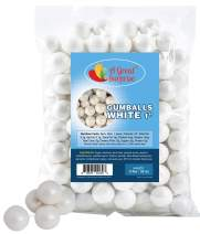 White Gumballs for Candy Buffet – Apx. 120 Gumballs - 2 Pounds - Shimmer Gumballs 1 Inch – White Candy - Bulk Candy
