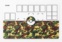 GMC Deluxe 2 Player Compatible Camouflage Pokemon Stadium Mat Board Playmat