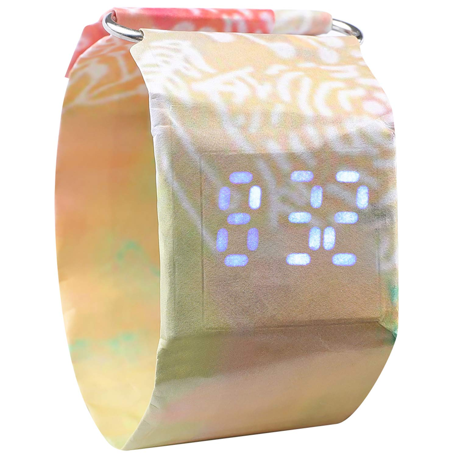Paper Watch, Waterproof Colorful LED Handmade Digital Wrist Watch Light Durable with Magnetic Gift for Men,Women,Girls,Boys,Students