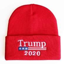 ROWILUX Unisex Trump 2020 Beanie Hats Flag Winter Knit Hat